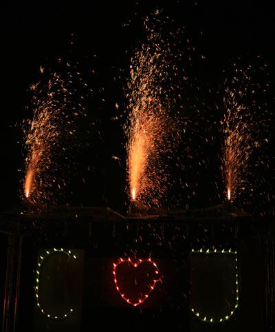 feuerschrift-Feuerwerk